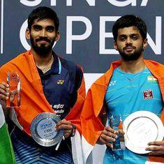 Badminton: B Sai Praneeth stuns Kidambi Srikanth to lift Singapore Open title