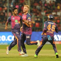IPL 10: Pune survive spectacular collapse to defend 161 against Bangalore