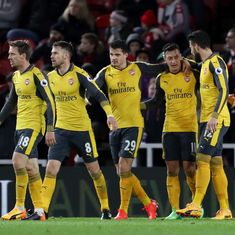 Arsenal dig deep to beat Middlesbrough 2-1 and keep top-four hopes alive