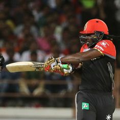 Chris Gayle magic takes RCB to a handsome win over the struggling Gujarat Lions