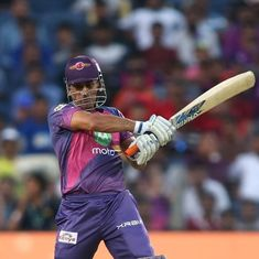 Vintage MS Dhoni helps RPS chase 177 against Sunrisers Hyderabad with last-ball boundary