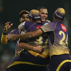 Kolkata Knight Riders skittle Royal Challengers Bangalore for 49 runs to register thumping victory
