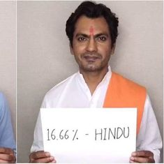 Nawazuddin Siddiqui video: '16.66% all religions, 100% an artist'