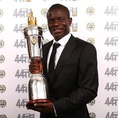 Chelsea midfielder N'Golo Kante named England's PFA Player of the Year