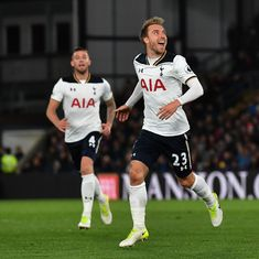 Premier League: Eriksen stunner keeps Tottenham in title race, Arsenal win courtesy Huth own goal