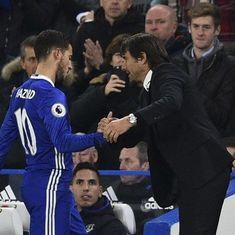 Premier League: Conte unable to give reassurances over Hazard