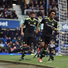 Premier League: Chelsea smash three past Everton, open seven-point lead at the top