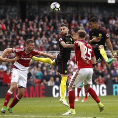 Gabriel Jesus's late equaliser helps Manchester City rescue point against Middlesbrough