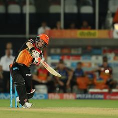 David Warner ton helps Sunrisers Hyderabad coast to 48-run win against KKR
