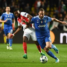 Gonzalo Higuain powers Juventus to a 2-0 win over Monaco in Champions League semis