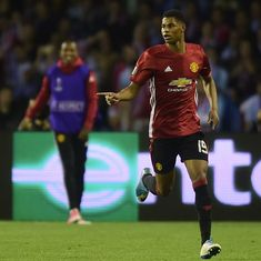 Europa League: Marcus Rashford's stunning goal gives Manchester United the advantage over Celta Vigo