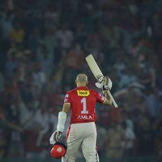 IPL 2017, KXIP vs GL: Hashim Amla's classy ton goes in vain again