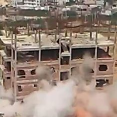 Watch: An illegal building meant to collapse hilariously refuses to implode as planned