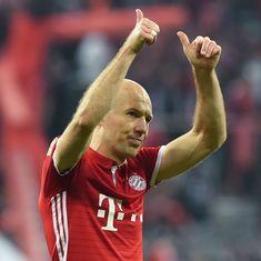 Arjen Robben hits 95th minute winner as Bayern Munich beat RB Leipzig in nine-goal thriller