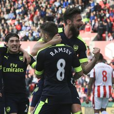 Arsenal down Stoke 4-1 to keep top four finish hope alive