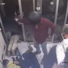 Macabre scene caught on camera: Robbers kill two, injure three, loot jewellery store in Mathura