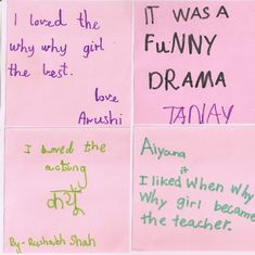 An Indian play struck a special connection with its young audience. Just look at these Post-It notes