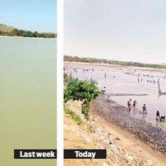 गर्मी में जब लोग पानी के संकट से जूझ रहे हैं, बेल्लारी के लोगों ने रातों-रात पूरी झील खाली कर दी