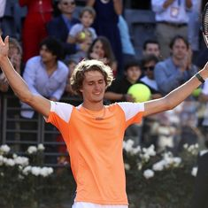 Alexander Zverev signals his arrival with straight-set win over Novak Djokovic in Rome Masters final