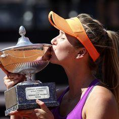 Elina Svitolina upsets struggling  Simona Halep to win Rome Masters