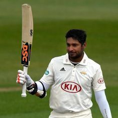 Kumar Sangakkara scores 100th career century to power Surrey over Yorkshire
