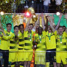 Aubameyang powers Borussia Dortmund to German Cup