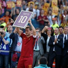 Unable to attend regularly, Totti drops out of coaching course 'out of respect to his colleagues'