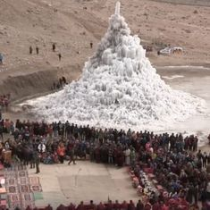 Watch: Ingenious 'ice stupas' in Ladakh could be the answer to the region's serious water scarcity
