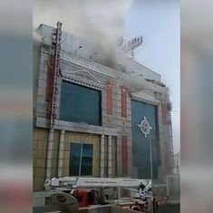 Tamil Nadu: Firefighting continues more than 8 hours after fire broke out at Chennai Silks showroom