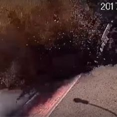 Caught on camera: A dramatic underground explosion on a city street in Ukraine