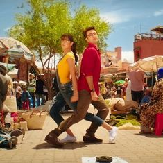 In 'Ullu Ka Pattha' from 'Jagga Jasoos', nifty legwork  from Ranbir and Katrina and that ostrich