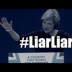 Watch: Protest song calling Theresa May a '#liarliar' goes viral before elections in UK
