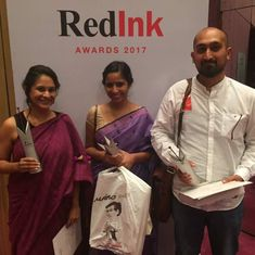 Scroll.in's Ipsita Chakravarty, Rayan Naqash and Priyanka Vora win RedInk awards