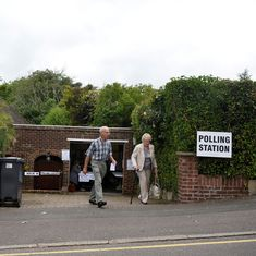 UK general election: People start queuing up at polling stations as Britain goes to vote