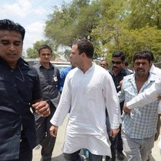 Rahul Gandhi meets farmers' families at MP-Rajasthan border after being released on bail