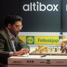 Viswanathan Anand loses to Vladimir Kramnik at Altibox Norway chess tournament