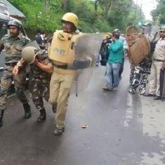 बांग्ला पर दार्जिलिंग में हिंसा, सेना बुलाई गई