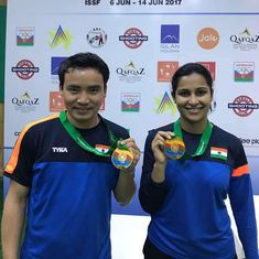 India shooters Heena Sidhu and Jitu Rai clinch their second mixed team gold medal at ISSF World Cup