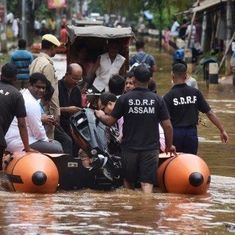 In photos: 13,000 affected by Assam floods, at least three dead in Guwahati