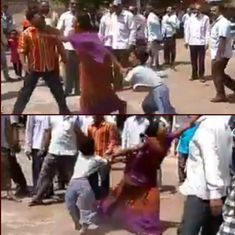 Watch: Dalit woman and her son shoved, tossed around by a mob in Gujarat
