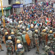 Darjeeling unrest: GJM holds silent rally in protest against the alleged killing of its supporters