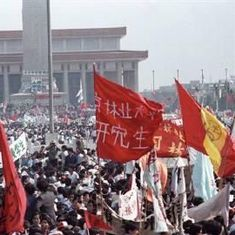 Watch: The funeral of a Chinese reformist triggered the Tiananmen massacre