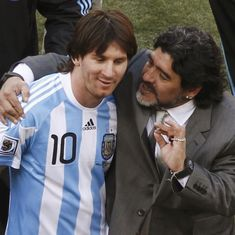 Lionel Messi is one of the best footballers in the world but not a leader, says Diego Maradona