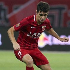 Oscar slapped with eight-game ban for sparking mass brawl in Chinese Super League