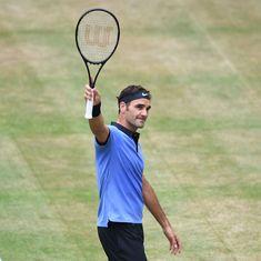 Roger Federer beats Karen Khachanov to reach his 11th Halle Open final