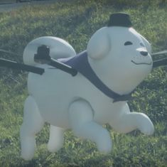 Watch: Meet Yikumaru, the adorable flying puppy who's the mascot of the Japanese town of Oji