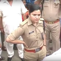 Watch: Police officer shows a crowd of angry (and male) BJP supporters that she will not be bullied