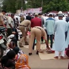 Watch: Two Hyderabad policemen performed a simple yet kind deed for Muslims during Eid prayers