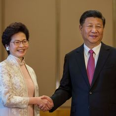 Carrie Lam sworn-in as Hong Kong's new leader amid protests by pro-democracy activists
