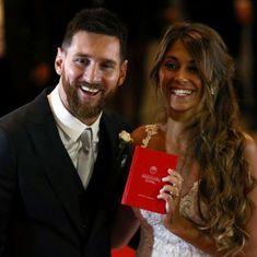 फुटबॉल की दुनिया के सुपरस्टार लियोनेल मेसी बचपन की मित्र के साथ विवाह बंधन में बंधे
